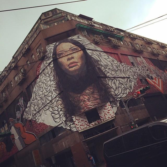 Banksy Street Art Tours Taiwan Hello again @powwowtaiwan #powwowtaiwan