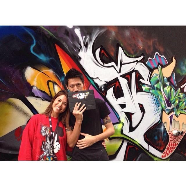 Banksy Street Art Tours Taiwan the amazing @debetwomuch ❤️ #powwowtaiwan