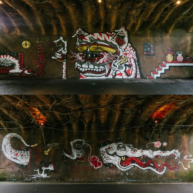 Banksy Street Art Tours Taiwan Completed @spacecandy and @_theyok tunnels at the #taipeizoo #powwowtaiwan @powwowtaiwan @powwowhawaii #spacecandy #theyok #streerart #fuji #fujifilm_xseries #fujifilm #XT1